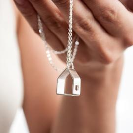 Collar casita de plata 925