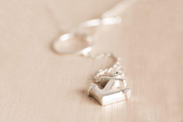 Collar ancla de plata 925