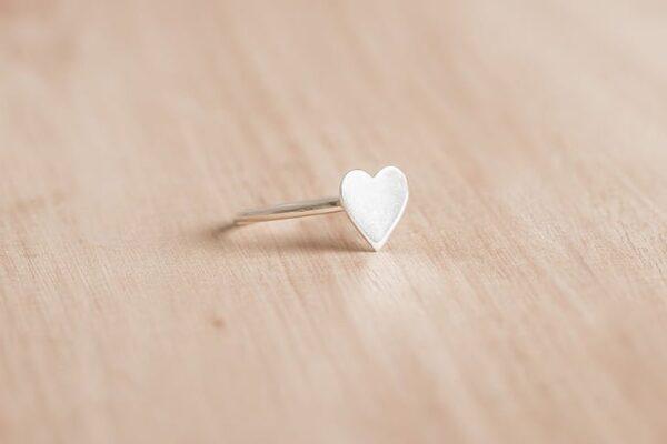 Anillo corazón de plata 925