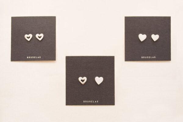 Aros corazón en tre versiones