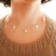 Collar Popurrí: corazones y perlas de río con cadena de plata. Bruselas Joyería Contemporánea